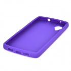 Protective Silicone Back Case for LG Nexus 5 - Purple
