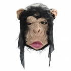 HXX001 Horror Chimpanzee Style Face Mask - Black + Flesh