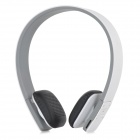 LC-8300 MP3 + FM + Voice Recorder + Card Reader Multifunctional Headband Earphone - White + Grey