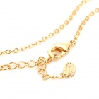 H-8201 Creative Number 9 Style Zinc Alloy Necklace - Golden