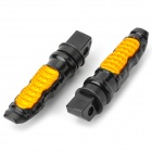 Eastor ER-MY Universal Aluminum Alloy + ABS Motorcycle Back Pedal - Black + Yellow (Pair)