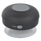 BTS-06 Waterproof 3W Wireless Bluetooth V3.0 Speaker - Black + Translucent