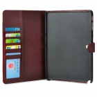 Protective Flip Open PU Leather Case w/ Stand / Card Slots for Samsung Galaxy Note 10.1 P600