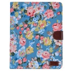 Buy Flower Pattern Flip Open PU Leather + Plastic Case Stand / Card Slots IPAD 2 3 4