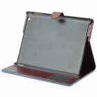 Protective Flip Open PU Leather + Plastic Case w/ Stand / Card Slots for IPAD 2 / 3 / 4 - Sky Blue