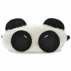Cute Panda Style Plush Eyeshade - White + Black