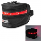 Acacia 0411301 3-Mode Bike Saddle Bag w/ Alarm Lamp - Black + Red
