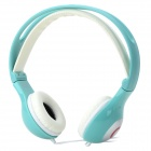 Yongle IP-801B Stylish 3.5mm Jack Wired HD Headset w/ Microphone for IPHONE / IPAD + More - Blue