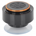 Waterproof 3W Wireless Bluetooth V3.0 Speaker w/ Microphone / 3.5mm Jack - Black + Copper