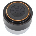 Waterproof 3W sem fio Bluetooth V3.0 Speaker w / microfone / 3,5 mm - Preto + Copper