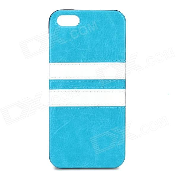 HHEC-264 Protective PU Leather Mix Color Back Case for IPHONE 5C - Blue ipega i5056 waterproof protective case for iphone 5 5s 5c pink