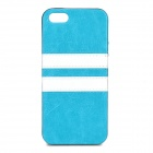 HHEC-264 Protective PU Leather Mix Color Back Case for IPHONE 5C - Blue