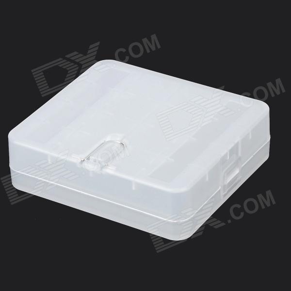 RRUSTU MT-01 Plastic 4-18650 Battery Storage Case - White