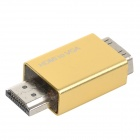 Aluminum Alloy + Plastic 1080P HDMI Male to VGA Female Adapter - Golden Yellow