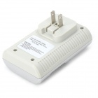 BTY 802 US plug 4-slot AA / AAA / 6F22 chargeur de batterie w / 4 piles AA - blanc + vert + argent