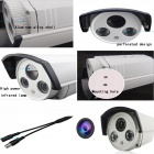 "HK1080IR2 Waterproof 1080P HD 1/3"" CMOS 1.0MP CCTV Camera w/ 2-IR LED - Silver"