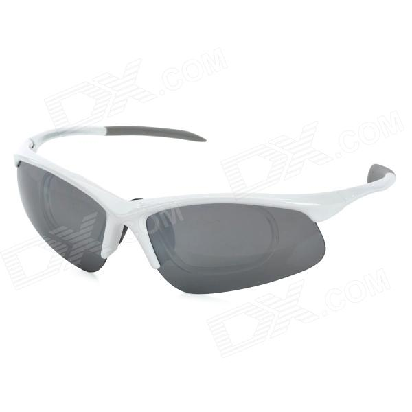 OBAOLAY SP870 Sports Polarized Blue REVO Lens Goggles w/ Replacement Lenses - White