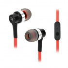 Remax RM-535i In-Ear Earphone w/ Microphone for Cell Phone - Black + Red