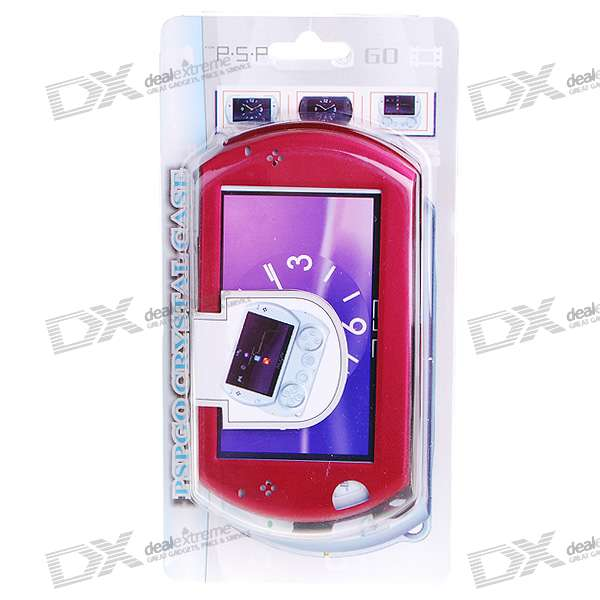 Protective Aluminum Case for PSP Go (Red)