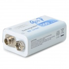 GD 9V 500mAh batterie rechargeable li-ion - blanc + bleu + multicolore