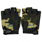 DAVS ST-611 Neoprene Outdoor Sports Bicycle Anti-Slip Breathable Half Finger Gloves - Camouflage