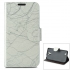 BAIYING TRE-1266 Protective Flip Open PU + PC Case w/ Stand / Card Slots for Samsung i9500
