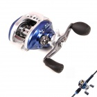 Liangjian LK8+1 8+1 Bearing Classic Aluminum Alloy Water Fishing Reel Right Hand - Blue + Silver