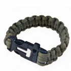 HXOUTDOORS D-101 Survival Hand Rope with Magnesium Rods / Whistle - Army Green