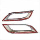 ABS Car Adhesive Front Fog Light Covers for Mazda 3 XingChi - Silver (2 PCS)