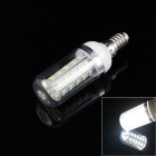 E14 4W 320lm 6500K 36-SMD 5630 LED White Light Corn Bulb w/ Cover (AC 220~240V)