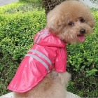 Thchi PT-05 Pet's Dog Cat PU Raincoat with Hood - Pink