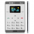 "MOOC M33 Fashion GSM Card Bar Phone w/ 0.98"" / Radio / GPRS - White + Silver"