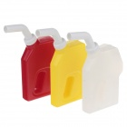 Gas Gun Style Plastic Squeeze Soy Sauce Jam Bottle - White + Red + Yellow (3 PCS)