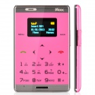 "MOOC M33 Fashion GSM Card Bar Phone w/ 0.98"" / Radio / GPRS - Pink + Silver"