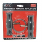 T7012-C Car Windshield Removal Tools Set - Black + Silver