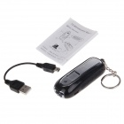 TX365 Eco-friendly Electronic Cigarette Lighter w/ Keychains w/ Torch - Black + Silver