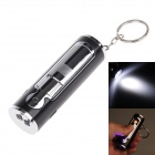 TX268 Eco-friendly Electronic Cigarette Lighter w / Keychains + Torch - Black + Silver