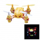 PRESALE Wltoys V272 Mini 4-CH 2.4GHz Four-Axis Radio Control R/C Flying Saucer w/ Gyro - Yellow
