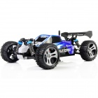 WLtoys A959 1:18 Scale 4-CH 2.4GHz High Speed R/C Cross-Country Drifting Car - Blue + White