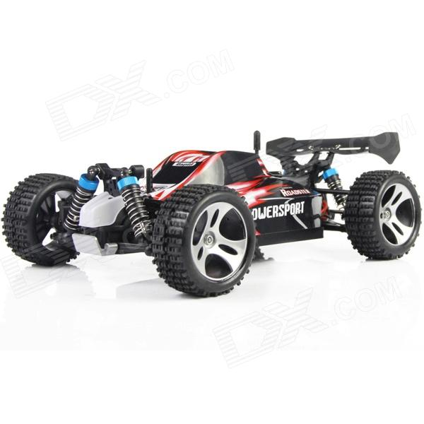 WLtoys A959 1:18 Scale 4-CH 2.4GHz High Speed R/C Cross-Country Drifting Car - Red + Black nansheng 8807g 1 12 scale 3 ch 2 4ghz high speed r c cross country car silver black
