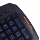 R8 KB-1851 ESports USB 2.0 Wired Games 104-key Iron Plate Keyboard - Black (150cm-Cable)