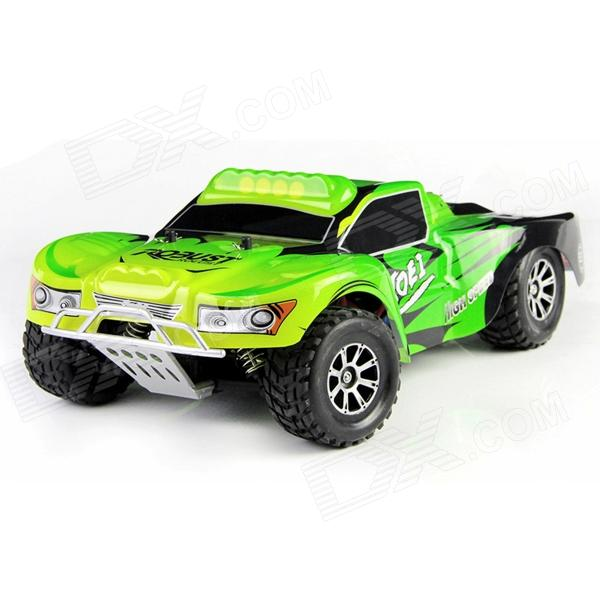 Wltoys A969 1:18 Scale 4-CH 2.4GHz Hi-speed R/C Off-road Vehicle - Green + Black wltoys wl r4 2 9 lcd 6 axis multi function remote controller for r c toy black 4 x aa
