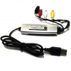 USB 2.0 PC Transfer AV VHS V8 Video Audio Grabber Capture Card DVD Maker Adapter w/ Snapshot Button