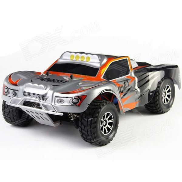 WLtoys A969 1:18 Scale 4-CH 2.4GHz Hi-speed R/C Off-Road Vehicle - Orange + Black 9099 20e r c 4 channel ir controlled wall climber vehicle model toy yellow blue black