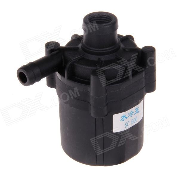 12V 14W Single Cold Water Pump - Black 390mm cylinder water tank sc600 pump all in one set maximum flow 600l h computer water cooling radiator