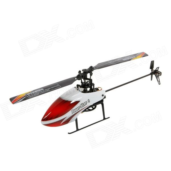 WLtoys V966 Flybarless 6 voies 2,4 GHz 3D / 6G R/C hélicoptère avec Gyro - rouge + blanc