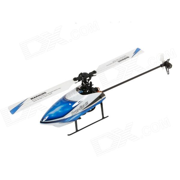 WLtoys V977 6-CH 2.4GHz Brushless Motor 3D / 6G Flybarless R/C Helicopter w/ Gyro - Blue xinlin shiye x123 3 5 ch r c infrared control helicopter black yellow