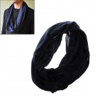 04 Stylish Multifunctional Outdoor Polyester + Cotton Scarf Muffler - Royal Blue