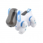 14632 Cute Fun Robotic Pet Dog Puppy w/  Light & Music Effect - White + Blue