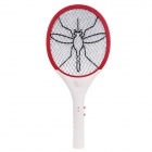 iDtad IDT-005 Electric Rechargeable Fly Swatter Mosquito Killer Racket w/ LED Light - White + Red
